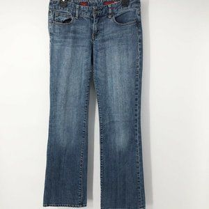 X2 Womens size 10 Distressed Blue Bootcut Jeans